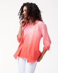 Two Palms Dip-Dye Linen Shirt