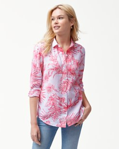 Tulum Tropical Linen Shirt