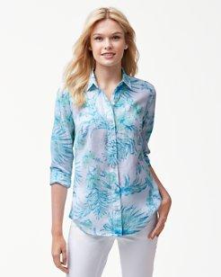 Tulum Tropical Linen Shirt