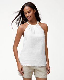 Two Palms Linen Halter Top