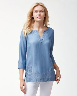 Radial Rays Chambray Tunic