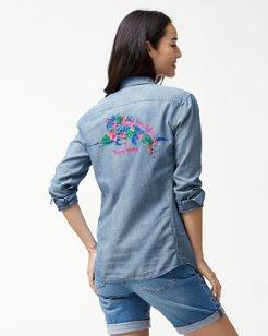 Tropical Anniversary Panelback Shirt
