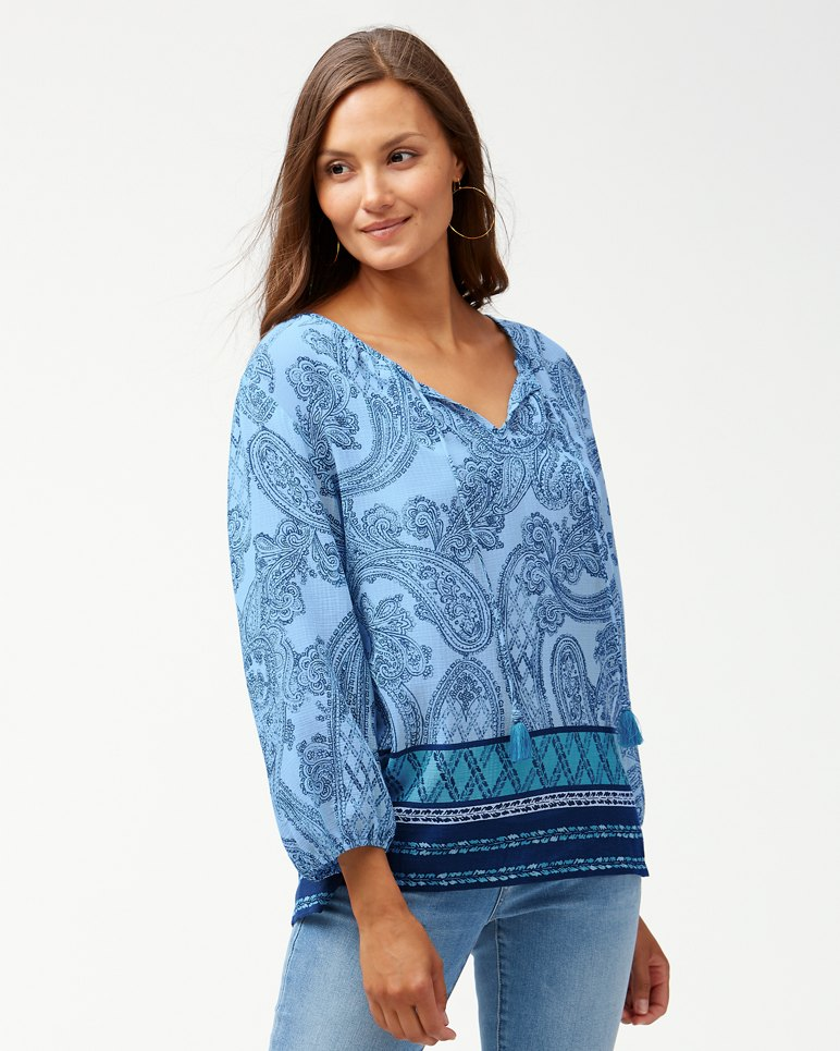 Main Image for Puerto Paisley Gauze Top