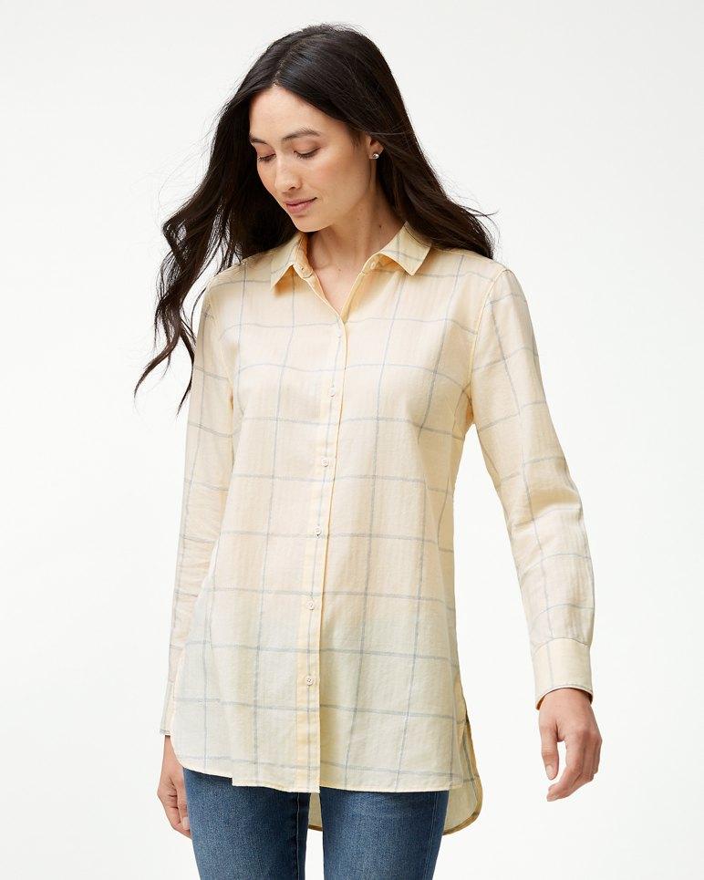 Main Image for La Fortuna Plaid Long-Sleeve Tunic