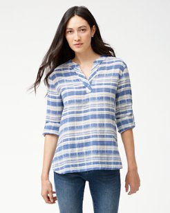 Conga Line Stripe Long-Sleeve Top