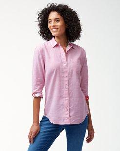 Pequeño Stripe Stretch-Linen Shirt