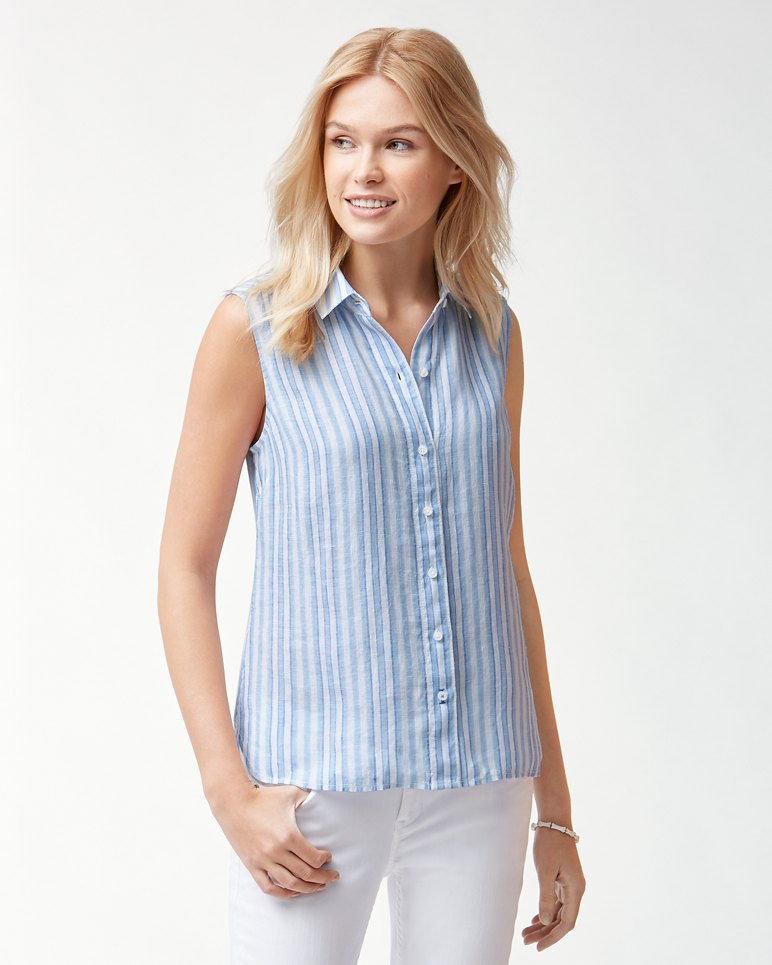 Main Image for Bella Hermosa Stripe Linen Shirt