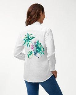 Tahitian Tweets Linen Shirt