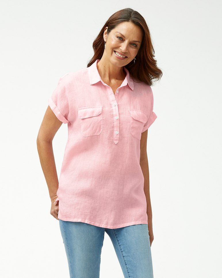 Main Image for Sea Spray Short-Sleeve Linen Shirt