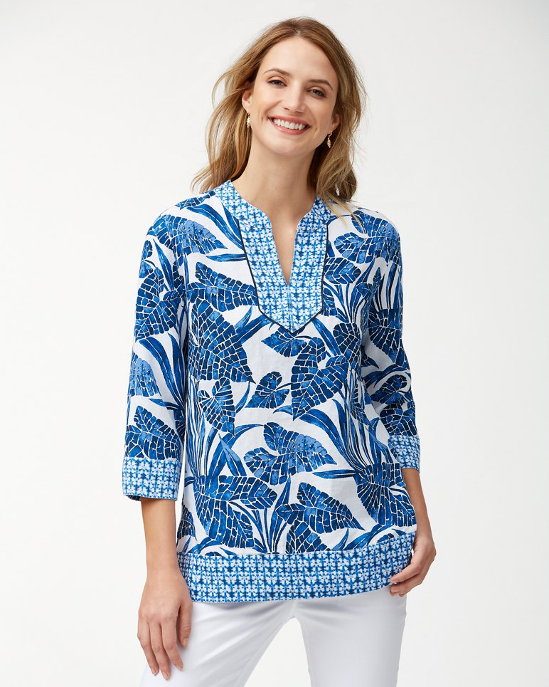 Main Image for Mosaic Palm Linen Tunic