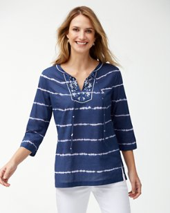 Embroidered Oliana Stripe Tunic
