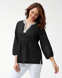 Luxe Linen Embellished Tunic
