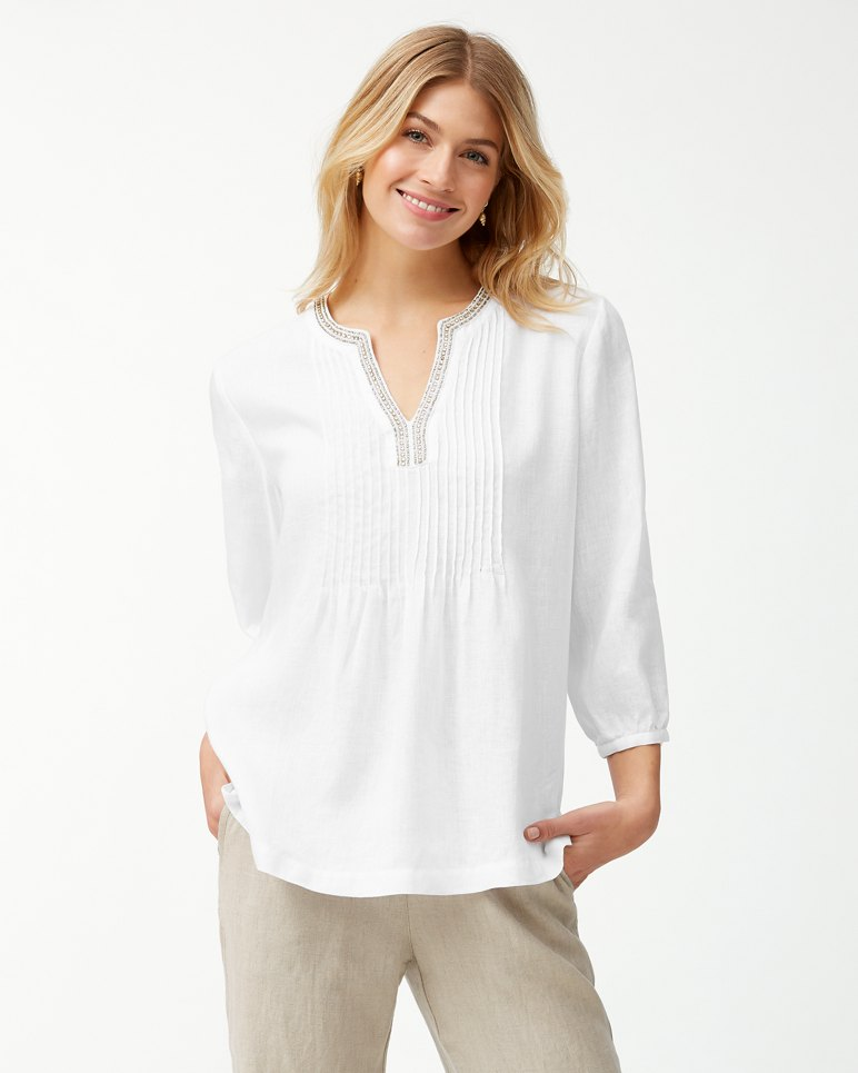 Main Image for Luxe Linen Embellished Tunic