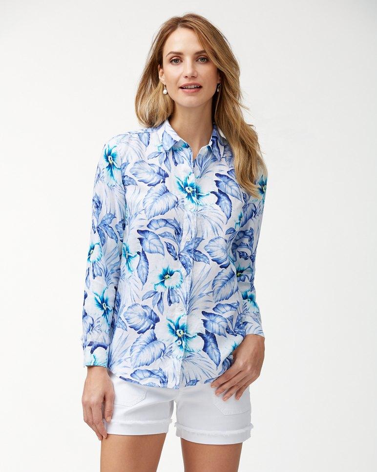 Main Image for Flora Bora Linen Long-Sleeve Shirt