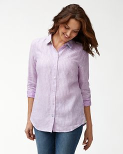 Crystalline Waters Linen Shirt