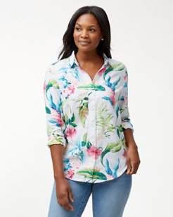 Tropicalia Long-Sleeve linen Shirt
