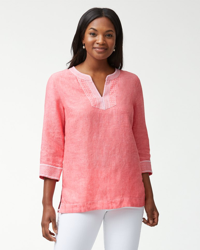 Main Image for Palmbray Embroidered Linen Tunic