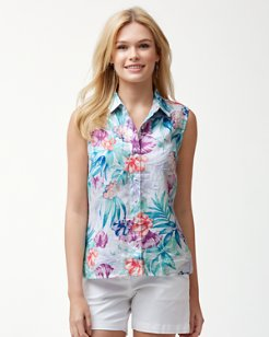 Valentina Villa Sleeveless Linen Shirt