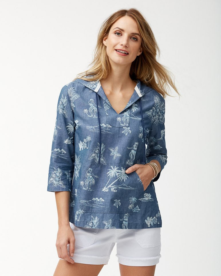Main Image for Hula Hut Baja Linen-Blend Hoodie