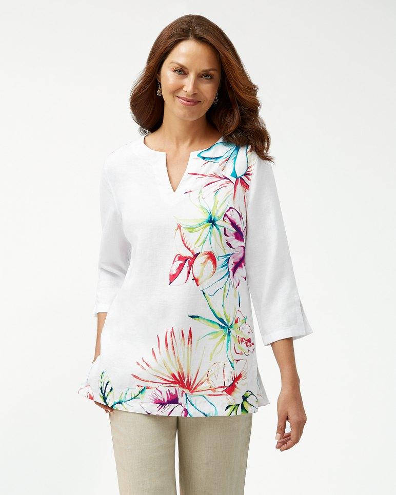 Main Image for Flora Dei Marmi 3/4-Sleeve Linen Tunic