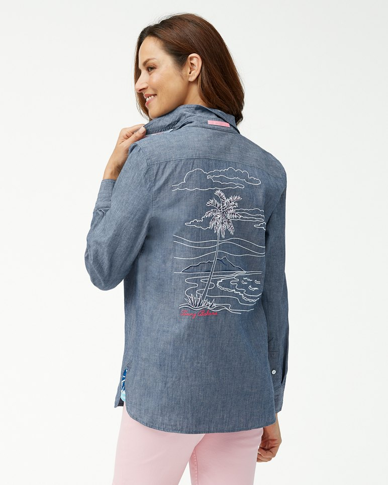 Main Image for Have You Scenic Linen-Blend Embroidered Shirt