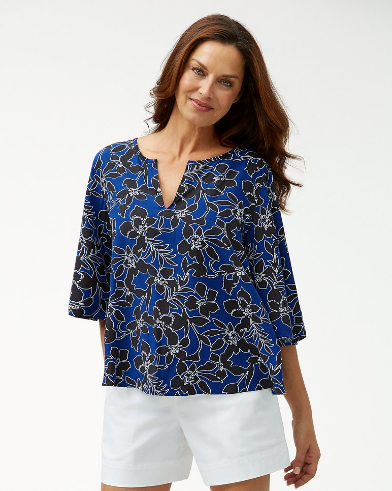 Main Image for Forte Floral 3/4-Bell-Sleeve Tunic