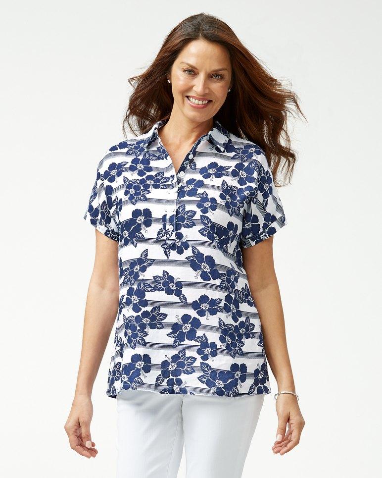Main Image for Hibiscus Horizons Linen Shirt