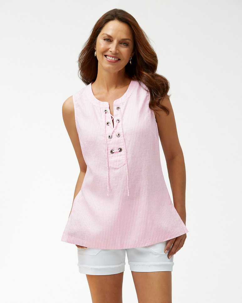 Main Image for Crystalline Waters Sleeveless Linen Tunic
