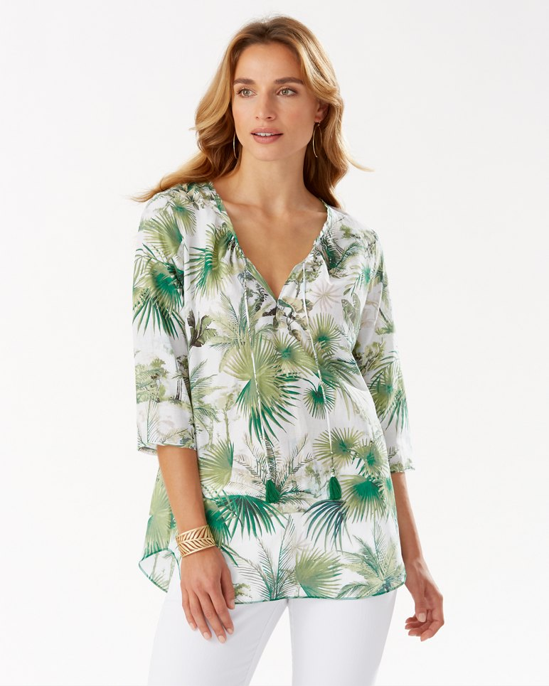 Main Image for Forte Dei Tommy Cotton-Silk 3/4-Sleeve Top