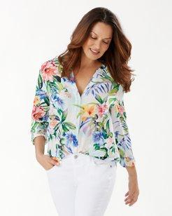 Hermosa Flora Silk Shirt