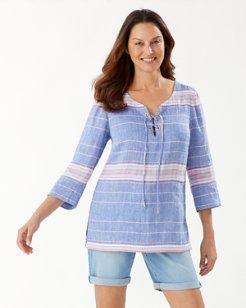 Salvation Mountain Stripe Linen Tunic