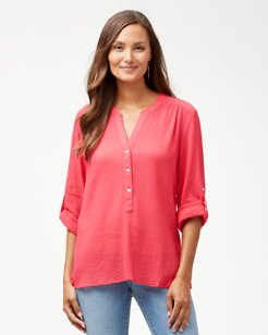 Coastview Gauze Top