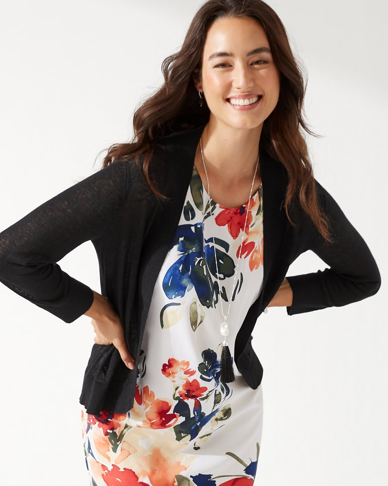 Main Image for Lea Open Linen Cardigan