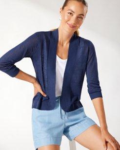 Lea Open Linen Cardigan