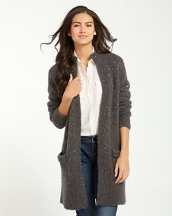 Sunstone Sequined Long Cardigan