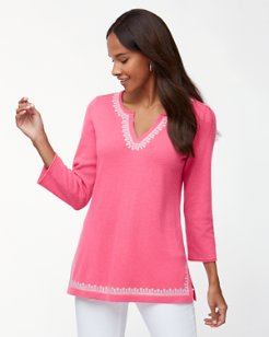Island Cashmere Embroidered Tunic