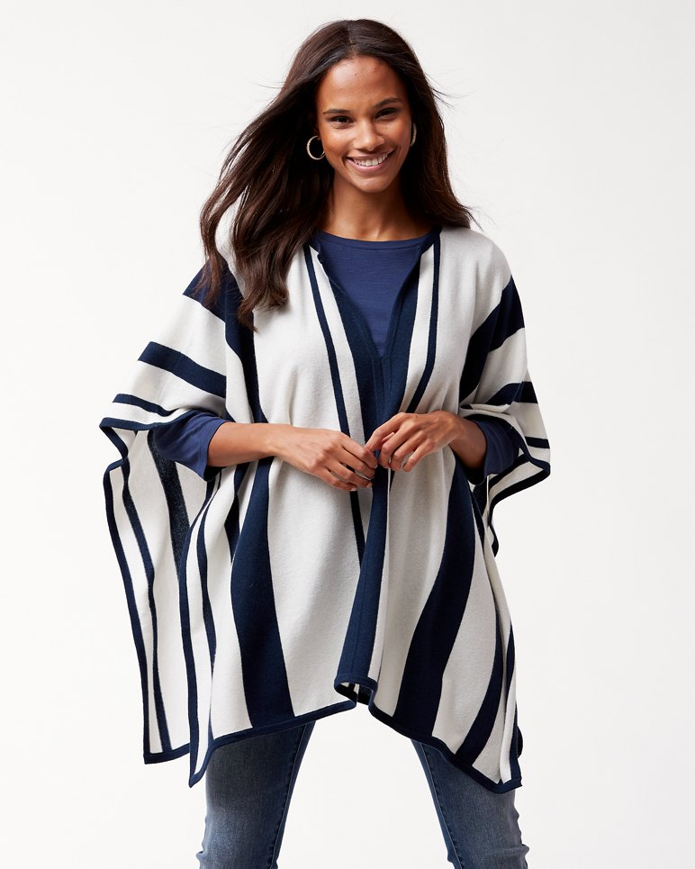 Main Image for Island Cashmere Stripe Poncho