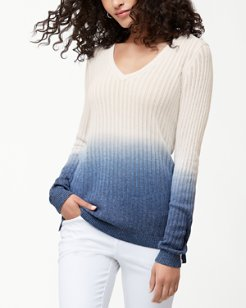 Cascade Dip-Dye V-Neck Sweater