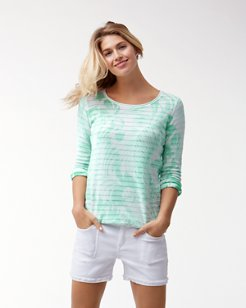 Let's Be Fronds Boatneck Sweater