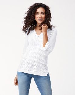Lea Plaited Cable Linen Tunic