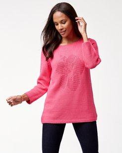 Hibiscus Stitch Boatneck Sweater