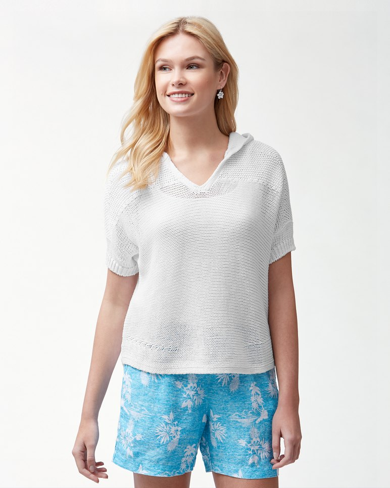 Main Image for Paradise Sun Hooded Linen-Blend Sweater