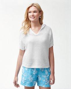 Paradise Sun Hooded Linen-Blend Sweater