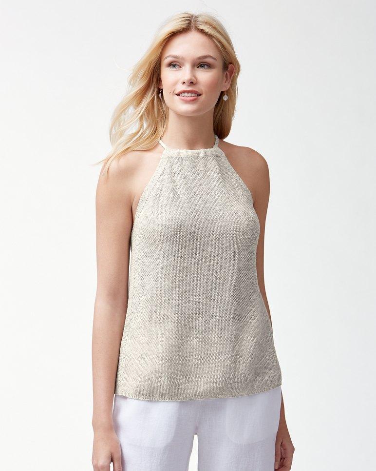Main Image for Paradise Sun Linen-Blend Halter Top