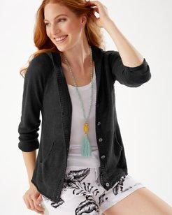 Lea Hooded Linen Cardigan
