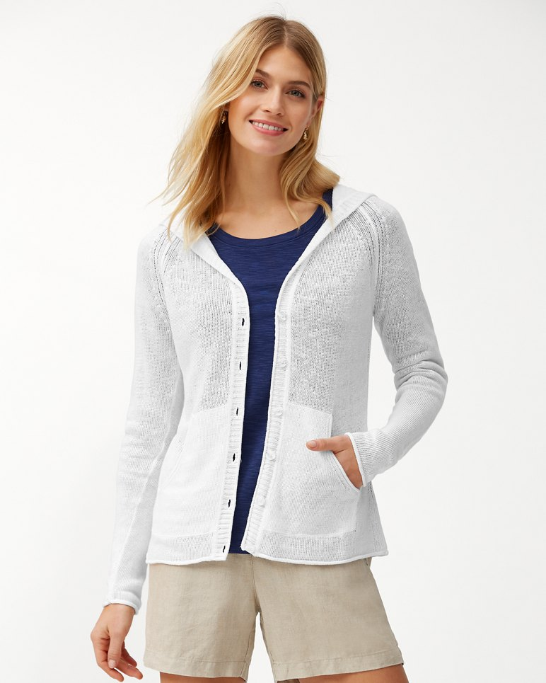 Main Image for Lea Hooded Linen Cardigan