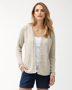 Lea Hooded Linen Cardigan