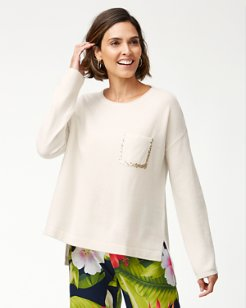 Serena Sequin Pocket Sweater