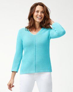 Sea Glass V-Neck Sweater