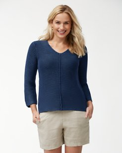 Sea Glass V-Neck Sweater